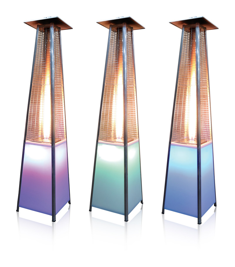 Outdoor And Garden CE Approval LED Light Real Flame Patio Heater