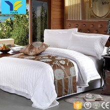 Luxury satin stripe king size hotel wholesale comforter sets bedding article