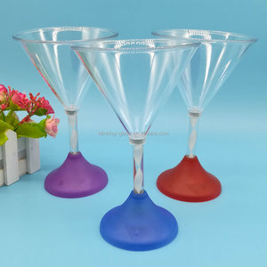 Hot sell led flashing cocktail glass with multi-color light