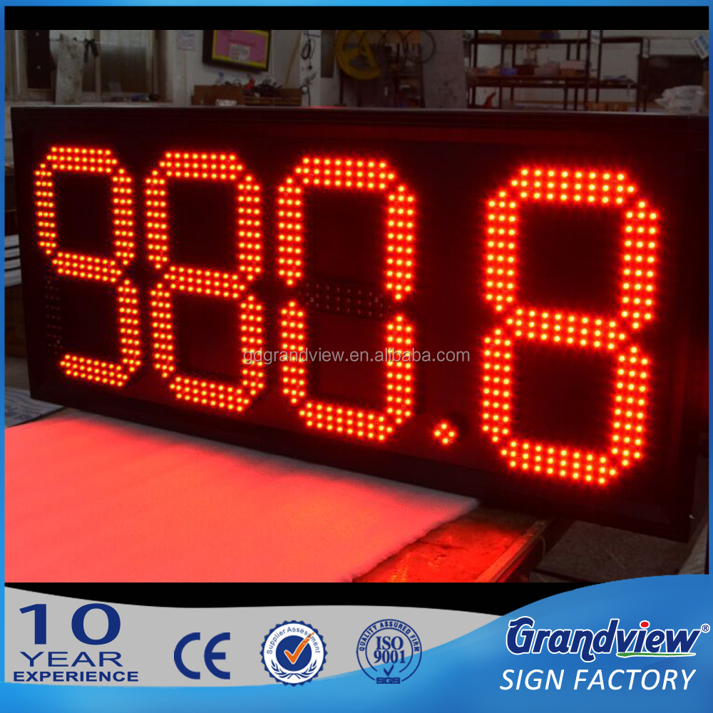 high brightness outdoor eletric digital price sign board REGULAR green wireless control gas station led price number sign