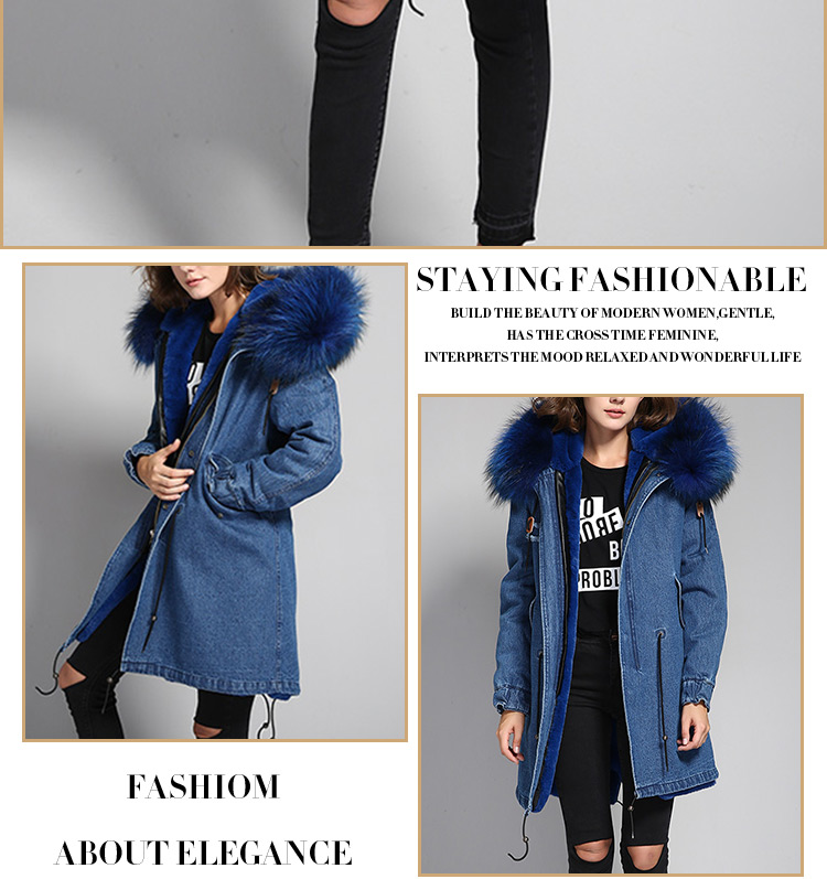 Wholesale low price faux fur lining raccoon large collar parka for wholesale