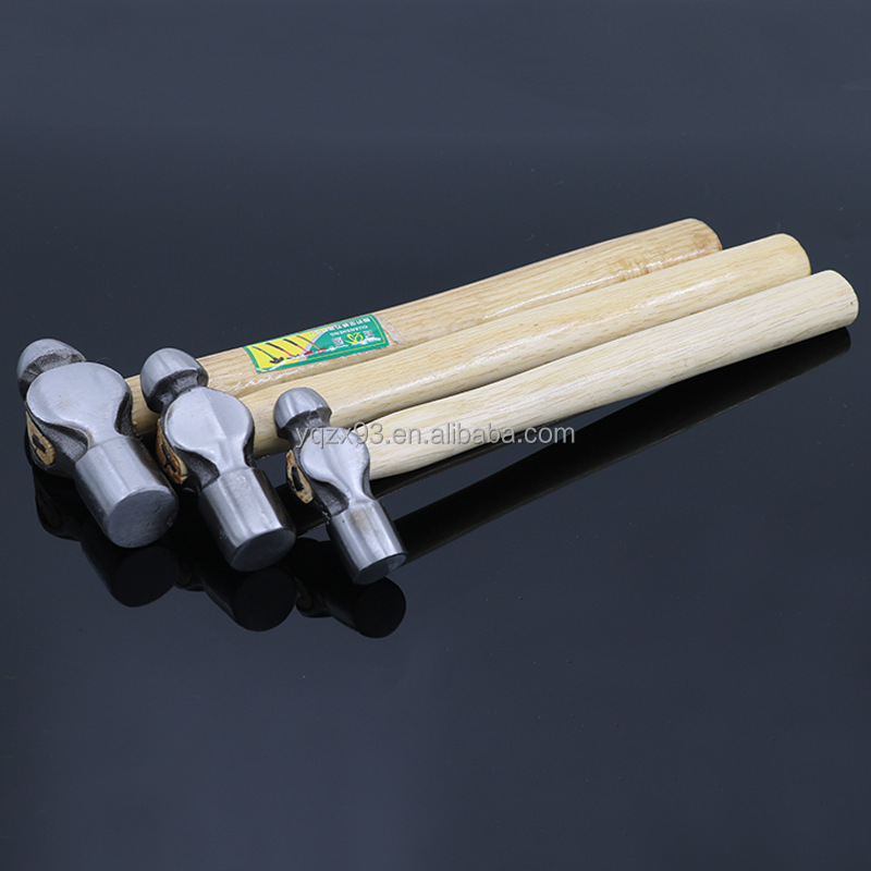 Factory price ball peen hammer with wooden handle