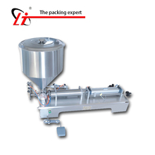 hopper filler shampoo lotion cream yoghourt honey juice sauce jam gel filler paste filling machine, pneumatic piston filler