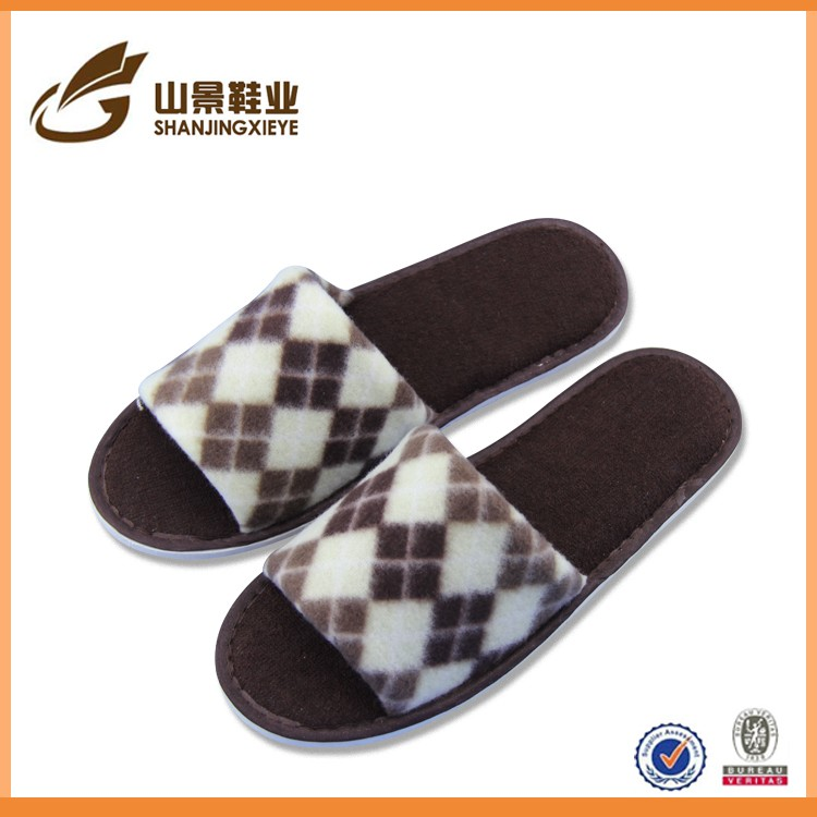 Latest design spring men's slippers napped cloth eva floor shoe