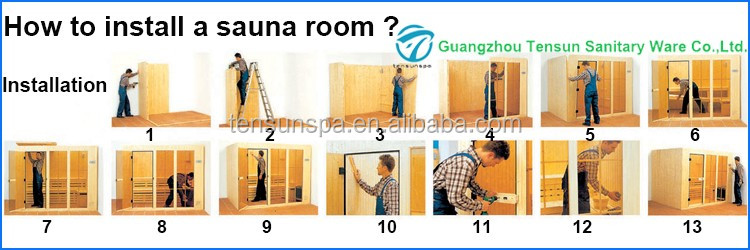 Luxury 4 persons wooden sauna room
