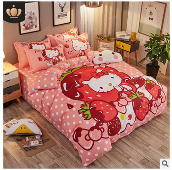 Hello Kitty Christmas Cute Crib Bedding Sets for Girls