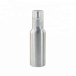 in stock 15ml 30ml 50ml 60ml 100ml recycled aluminum perfume pump sprayer bottle with aluminum screw lid