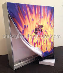 Large LED fabric light box signs picture frame artwork printing stand