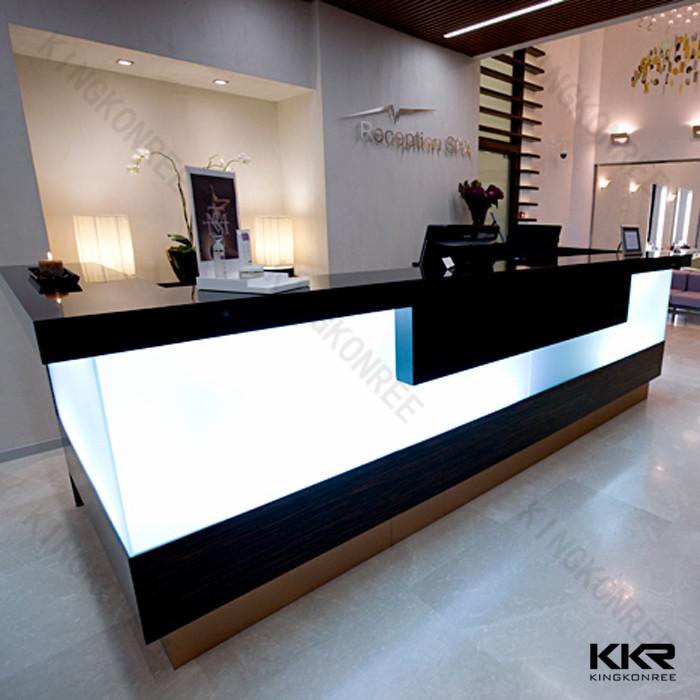 Quartz Stone Reception Desk : Artificial stone modern reception desk display case buy