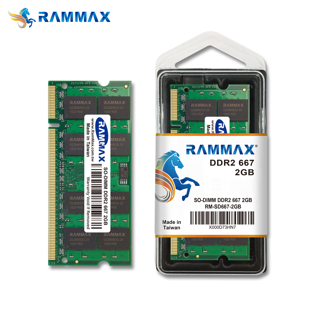 Memory So Dimm Ddr2 2gb 667mhz Module 128x8x16c Laptop Notebook Memoria Ram Rammax Taiwan Full Compatible Buy Ram2gb Ddr2memory 667 Product