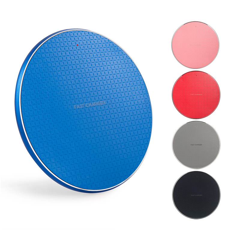 High quality round design wireless charger pad fast phone charger