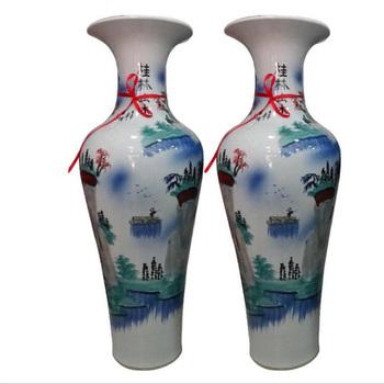 Creative Home Decor Chinese Ceramic Big Floor Fancy Vases