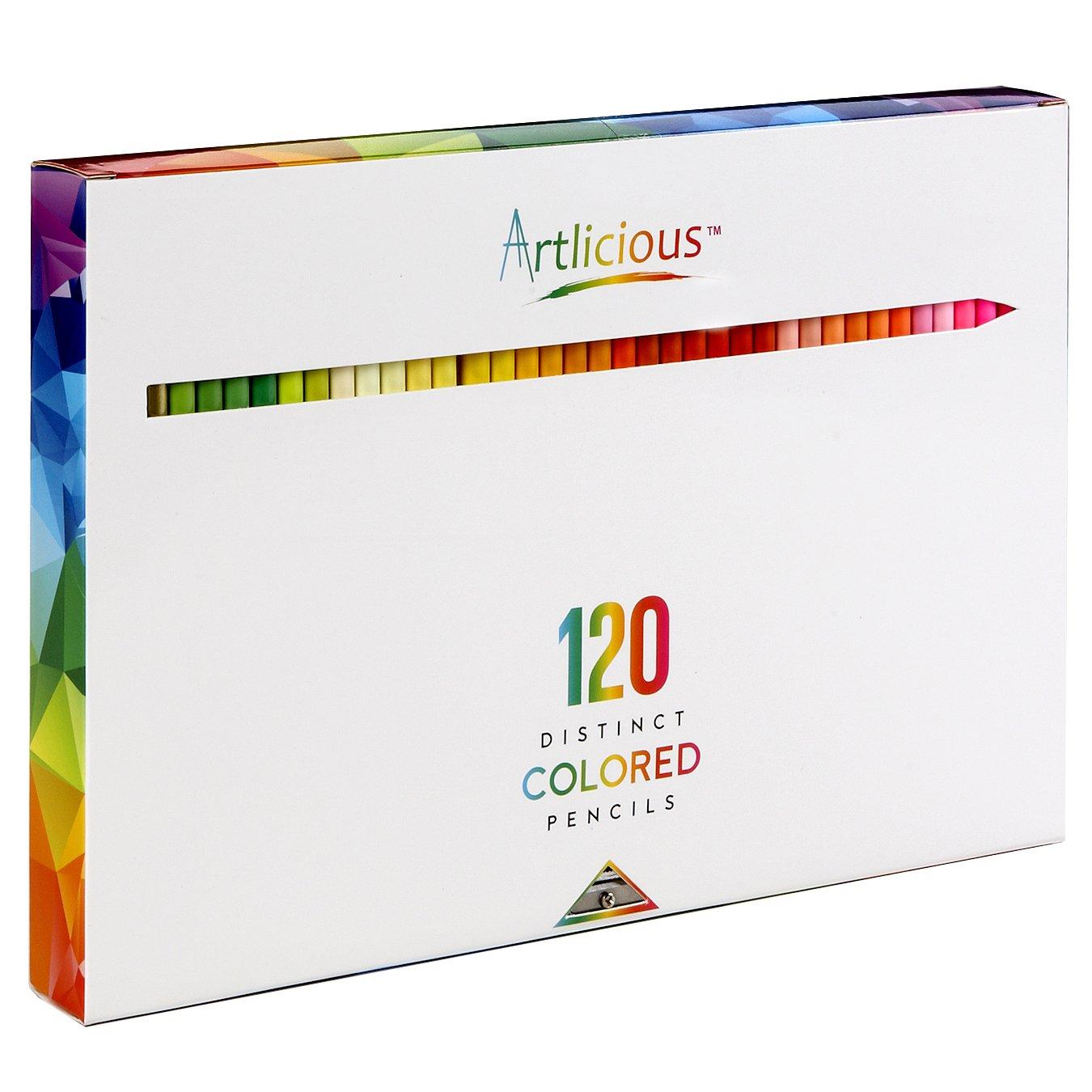 Buy Artlicious 120 Premium Distinct Colored Pencils For Adult - Premium-color-pencils