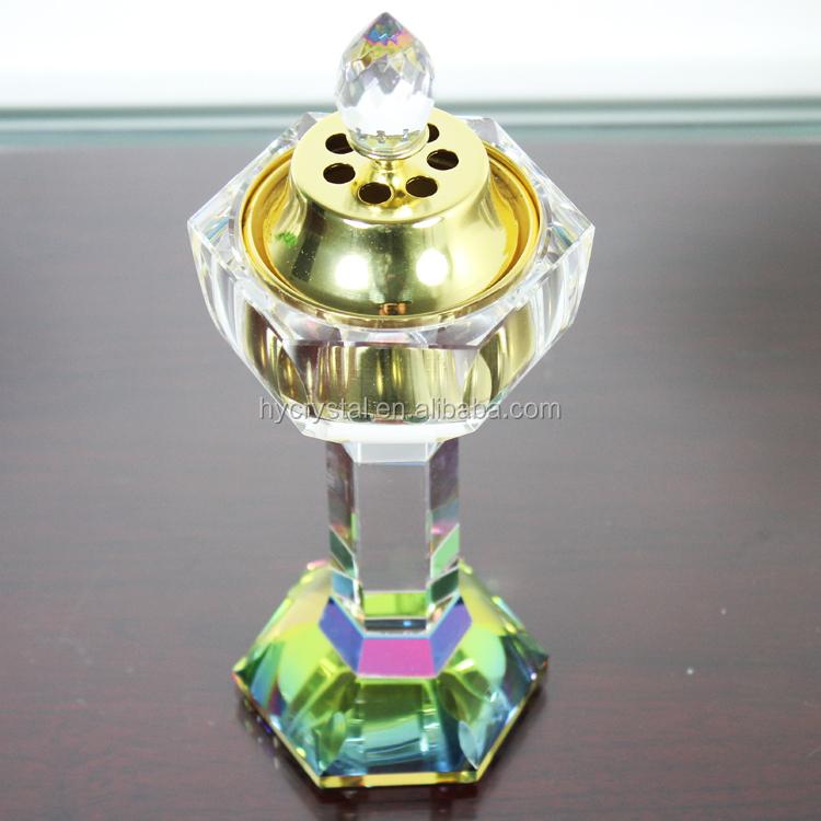 Queimadores de óleo de incenso de cristal atacado Pujiang