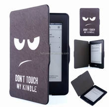 Factory supply customized color Printing For Kindle Paperwhite 1 2 3 Flip Leather Cover Case