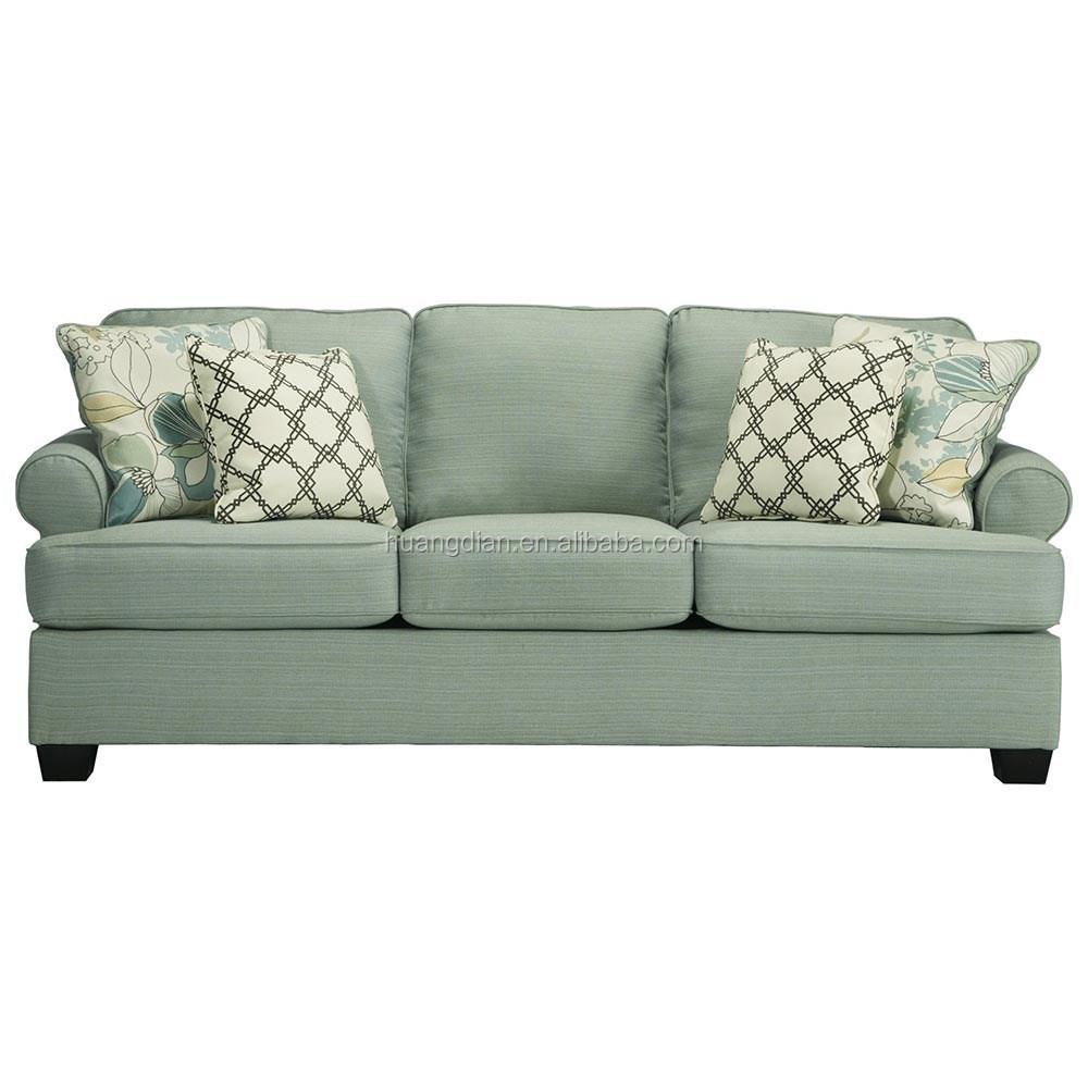Harga jual pabrik panas warna hijau segar 3 seater sofa furniture untuk ruang tamu warna