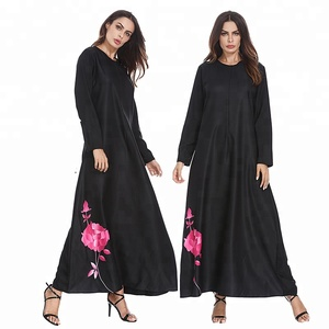 Long Sleeve Maxi Dress Clothing Abaya Muslim hijab dress