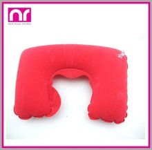 PVC flocking inflatable backrest pillow