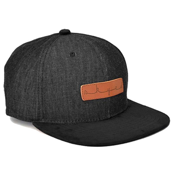 100% Linen good quality Custom leather patch logo snapback hats wholesale 3c79d73376a