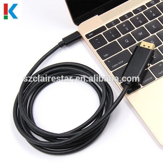 4k*2k High Quality USB C Type C to HDMI Black Long Cable High Speed USB3.1 Type C to HDMI Adapter Cable 1.8m/6ft