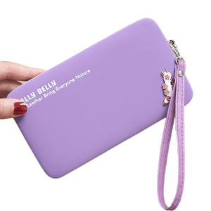 KW1003 Top Sale 2019 Cell Phone Clutch Bag Cheap High Heeled Shoes Women Human Leather Purse Wallet