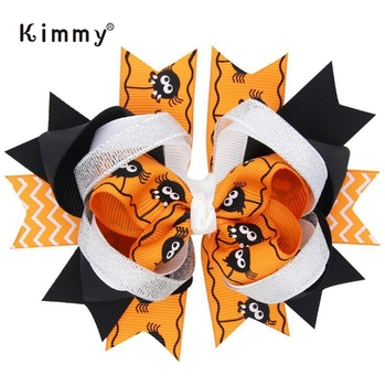 Black Orange Boutique Bow For Halloween Hair Accessories Decoration - Buy Hair Accessories