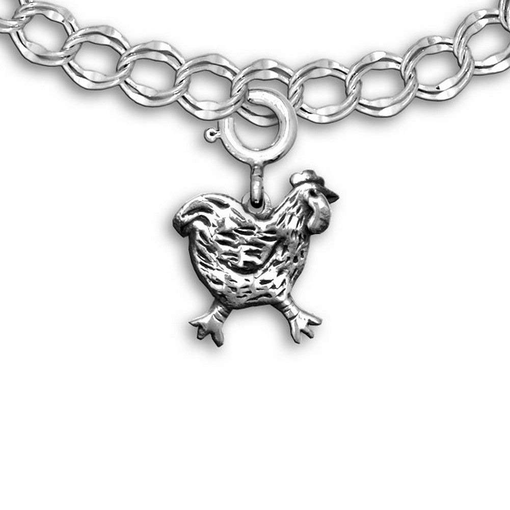 Sterling Silver Womens 1mm Box Chain 3D Side Facing Sheep Pendant Necklace
