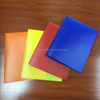 Heavy Duty Plastic 2 Pocket Folder