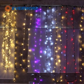 Evermore Holiday Time Christmas Rainbow Curtain String Led Light For Window