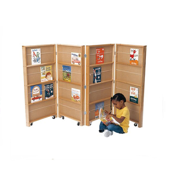 Good Price Wooden Kindergarten Bookshelf Malaysia Mobile Library Bookcase Divider