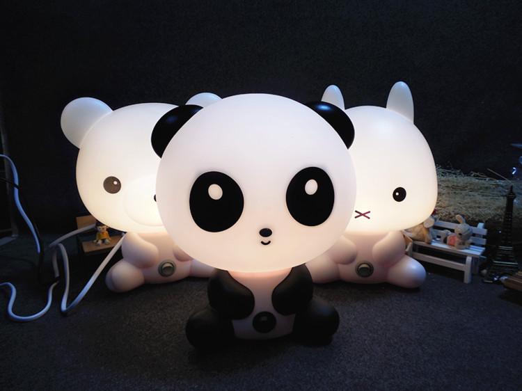 Nieuwe baby slaapkamer lampen cartoon huisdieren konijn panda pvc