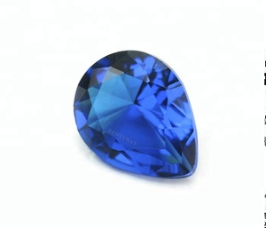 8x6 Mm Faceted Pear Pure Sapphire Glass Gemstones