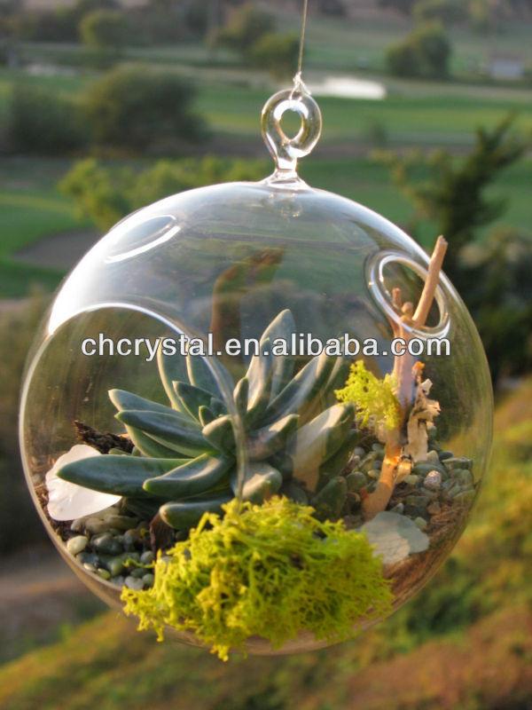 4 Dia Hanging Glass Globe Terrarium Ornament Decorative Glass Globe