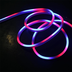 Outdoor decorative lighting rainbow rgb flex lights 12v led neon strip for home outdoor decoration