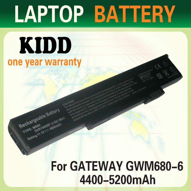 11.1V 4800MAH 6 Cells Replacement Laptop battery for Gateway 6000 6500 8500