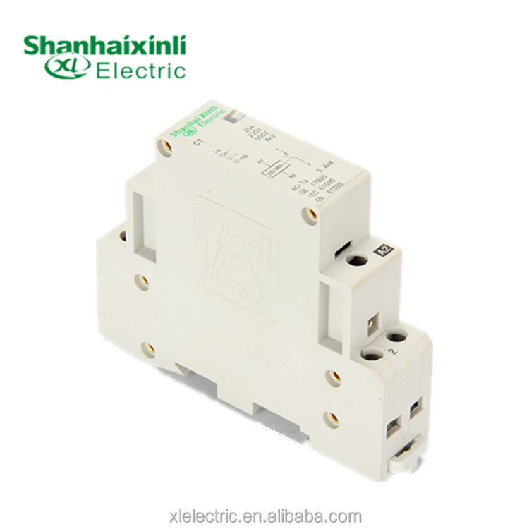 XINLI Electrical Supply CT 25A 220v single phase contactor Mini Contactor Household Contactor 1 NO