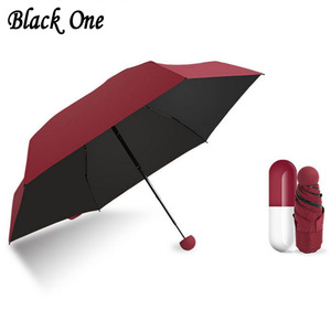 Umbrella Travel Compact Folding Parasol Sunny and Rainy Small Umbrellas Rain Women Paraplu Sombrinha Guarda sol