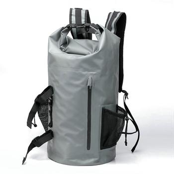 5a9b5507e1 Hiking dry backpack waterproof bag 500D TARPAULIN PVC 25L 60L 70L 80L  military foldable waterproof backpack
