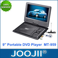 Fashional Design 9 Inch Portable DVD Player With TV Tuner FM USB