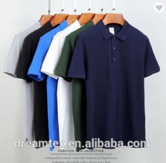 220 gram 100% cotton 12 plain colors summer breathable custom OEM men polo shirt