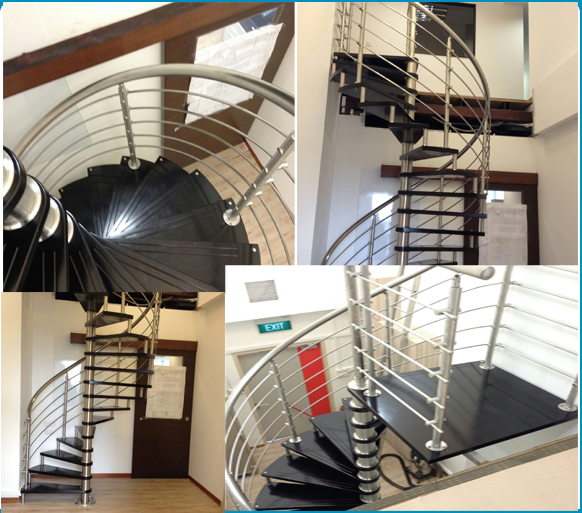 ACE DIY Indoor Wrought Iron Wooden Spiral Staircase Prices