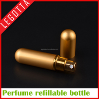 Portable empty aluminum beautiful 5ml refillable metal perfume bottle in stock