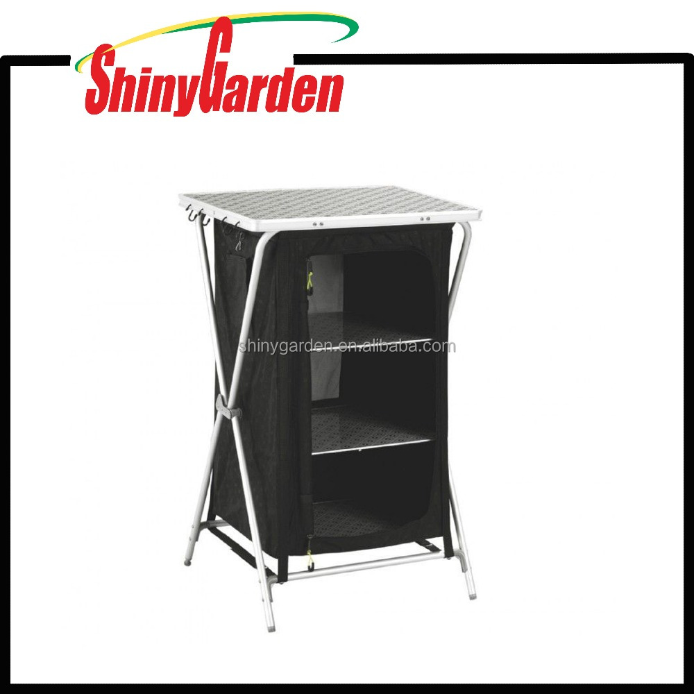 Portable Outdoor 3-shelf Camping Cupboard