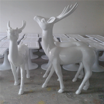 indoor fiberglass christmas sculpture santa reindeer decoration