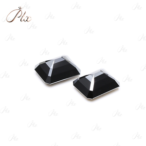 Wholesale Rectangular Black VVS Excellent Cut Synthetic Moissanite Stone