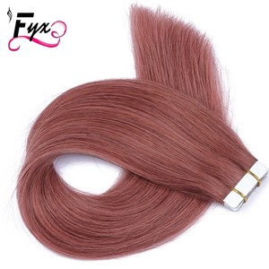 "New premium 33# Tape hair extension Natural color hair braids Cheap price 16""-24"" in Stock Malaysia Virgin Remy human hair"