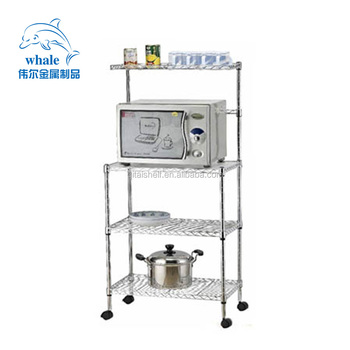 Stainless Steel Mobile Kitchen Trolley