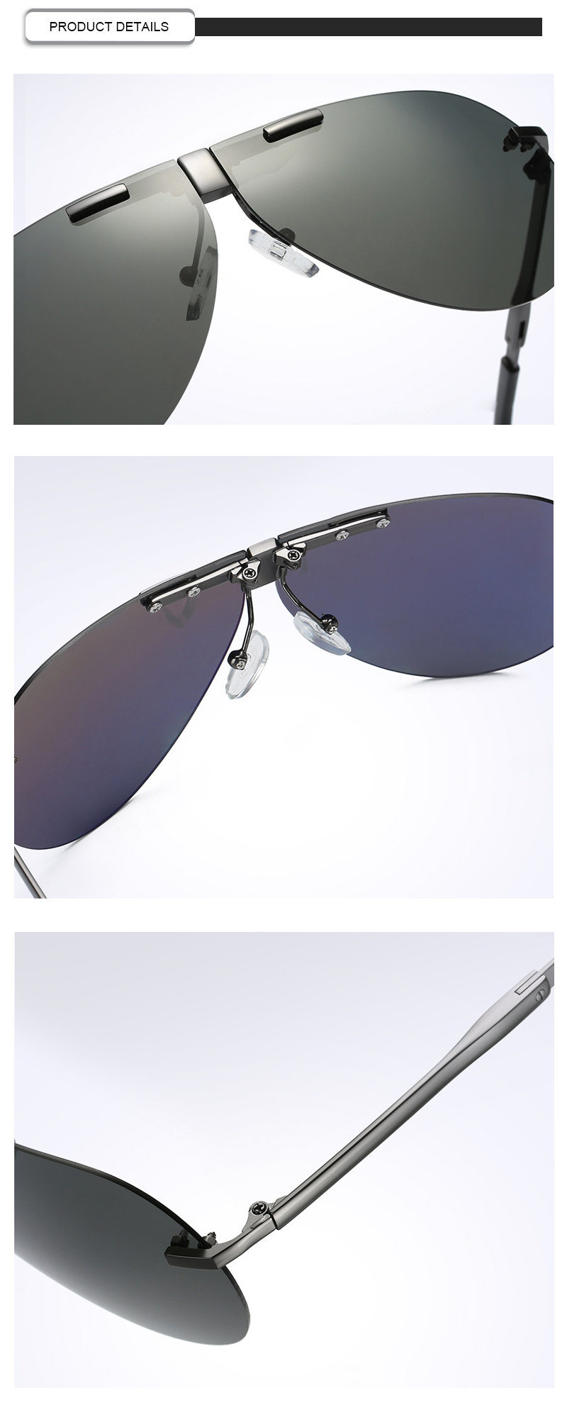 Fuqian folding sunglasses for business for driving-11