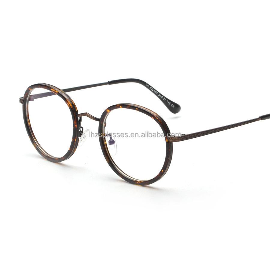 2016 Latest Fashion Spetical Optical Frame Old School Round Eye ...