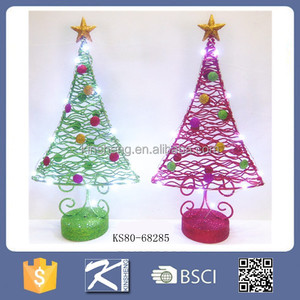 2016 Cone Xmas Metal Spiral Lighted Christmas Tree For Indoor Decoration